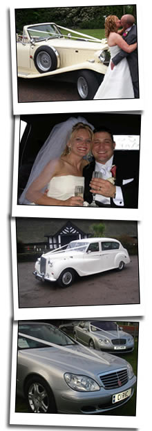 Mercedes, Chrysler, Beauford and Austin wedding cars